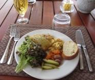 Egg dish at Linyanti