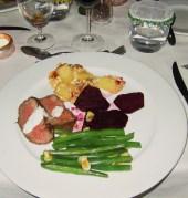 Meat, beets (so good), potatos, and greens at Linyanti