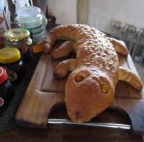Crocodile bread at Tubu