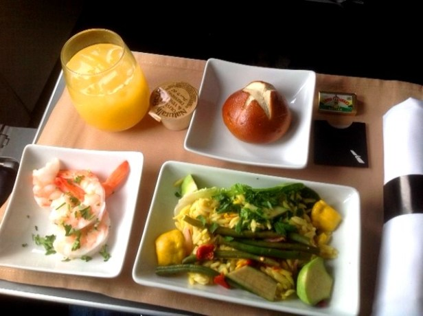 Airplanes and Food – AA First Class Meal Review – Paul ...
