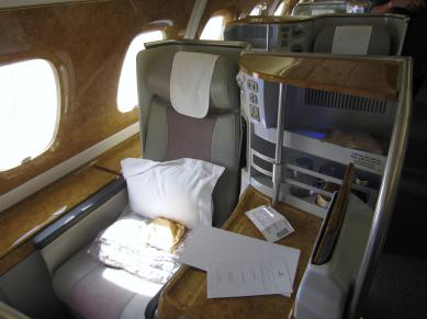 Emirates 380 Business Seat