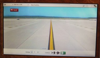 "Nose camera ""racing"" down runway for takeoff"