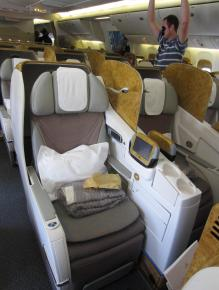 Emirates 777 Business Seat