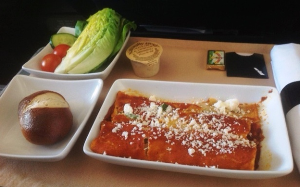 American Airlines Cheese Enchiladas