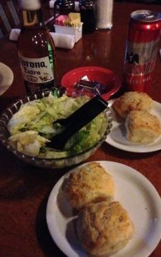 babes fried chicken salad and bisquet