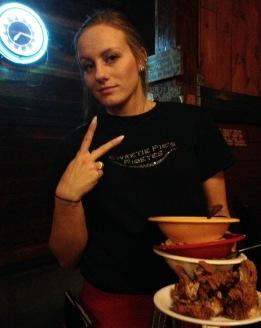 babes fried chicken waitress