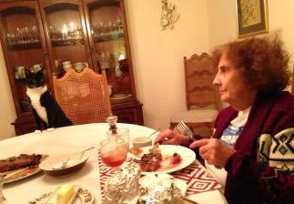 Billysky cat at dinner table 3)