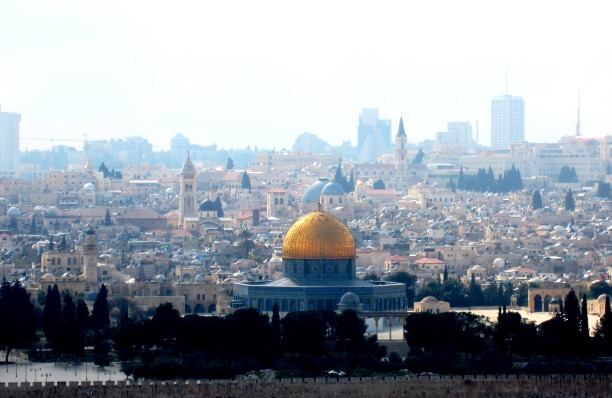 view of Jerusalem from the East