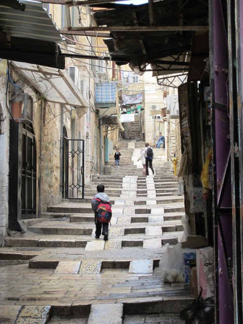 Via Dolorosa shows steepness