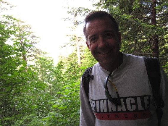 deer mountain trail base selfie
