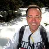 deer mountain trail snow selfie