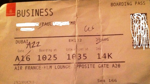 emirates business boarding pass
