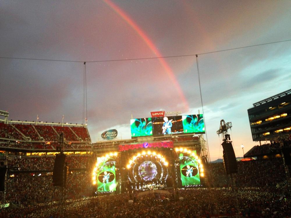 fare thee well levi stadium rainbow