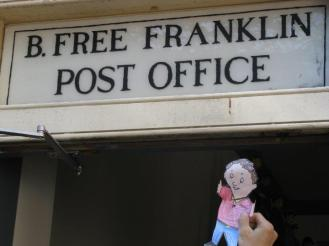 Flat Stanely at the Post Office that Ben Franklin
