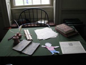 Flat Stanley on George Washington s desk