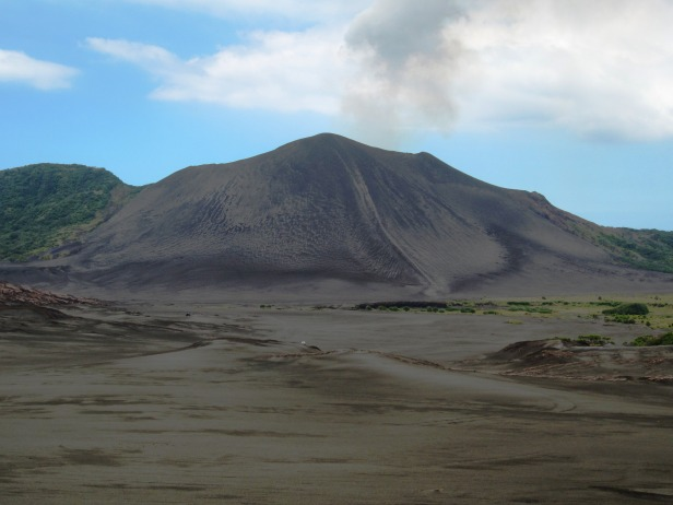 Mt Yasur Tanna Vanuatu ash plain