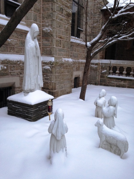 Our Lady of Fatima in the Snow