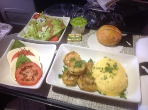 American Airlines Shrimp Polenta