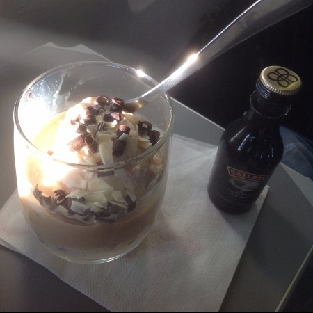 American Airlines Ice Cream Sundae