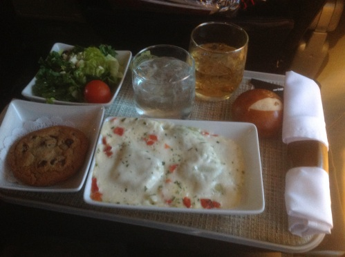 American Airlines Four Cheese Ravioli