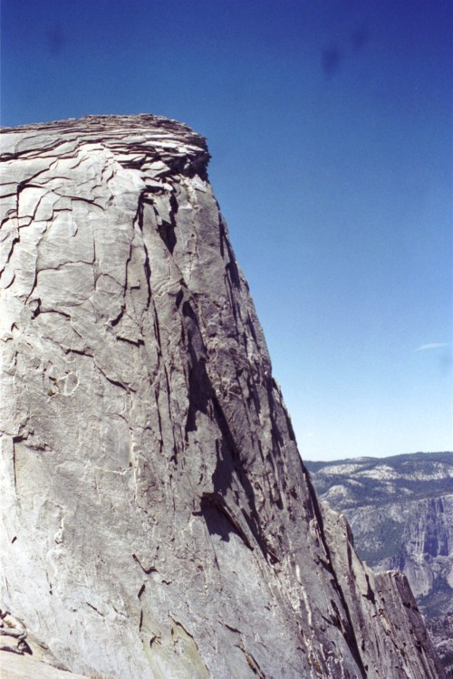 almost atop half dome