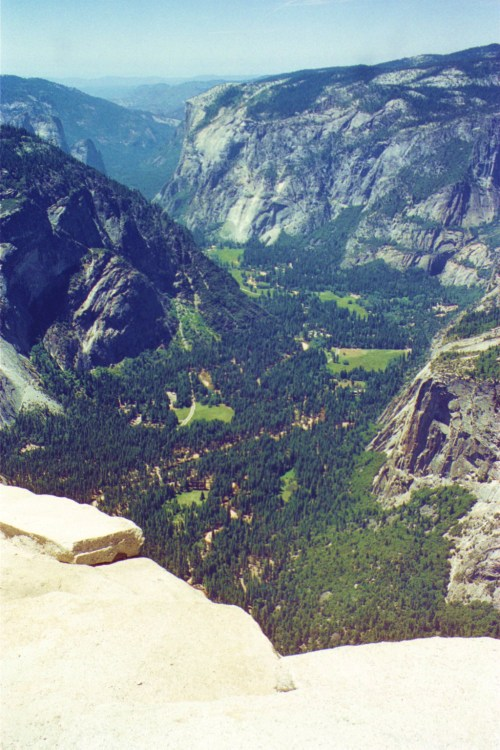 looking down from halfdome