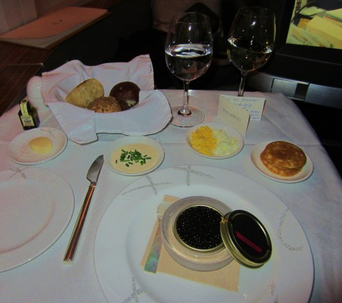 Cathay Pacific Caviar Service