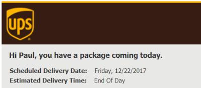 UPS Notice