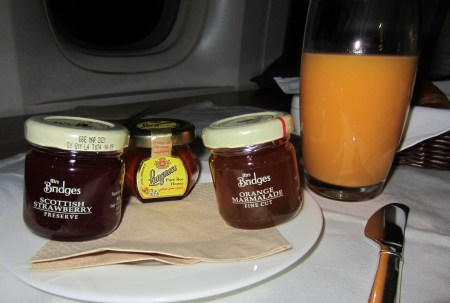 Cathay Pacific Breakfast Service
