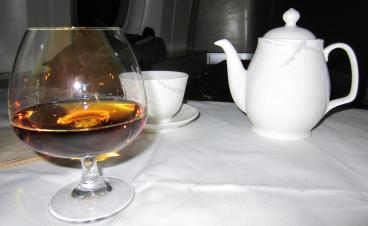 Cathay Pacific Cognac and Tea Service