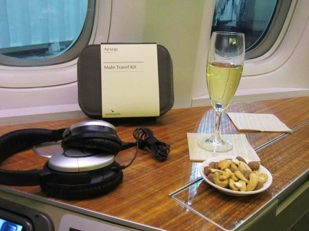 Cathay Pacific First Class Krug