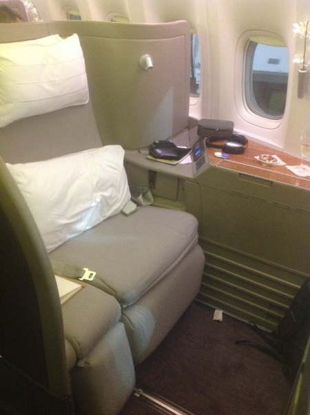 Cathay Pacific First Seat