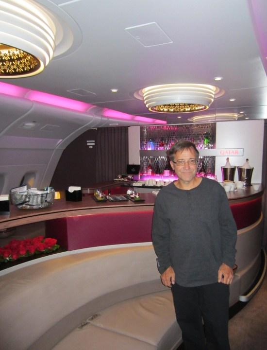 Qatar a380 bar aft