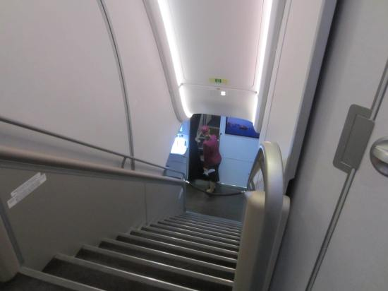 Qatar a380 stairwell