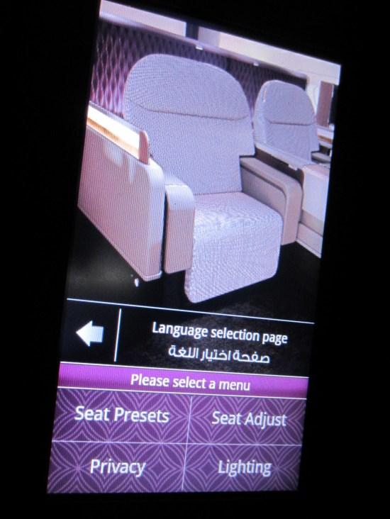 qatar seat presets