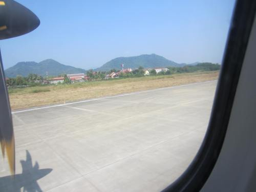 Lao Airline taking off