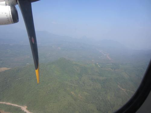 Laos from airplane