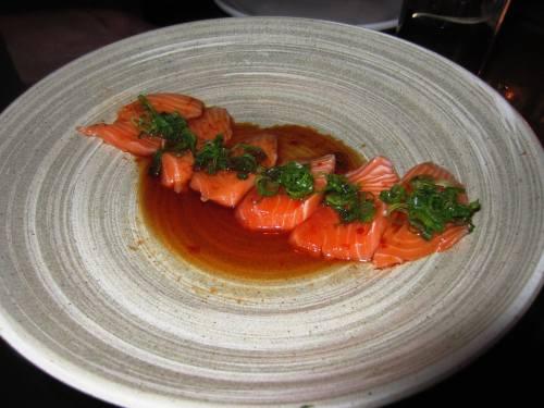 c1 salmon sashimi