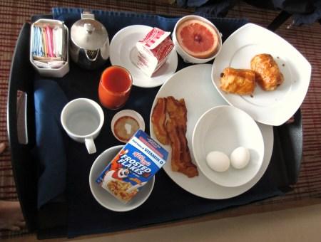 Celebrity room service breakfast