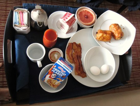 Celebrity room service breakfast