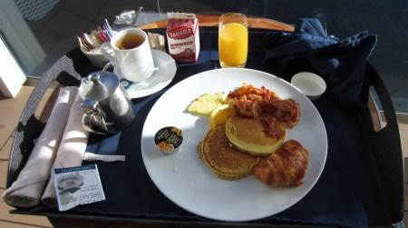 Celebrity room service pancake breakfast