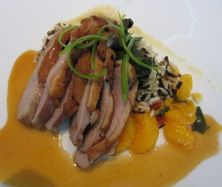 Seared duck with Orange Duck Jus