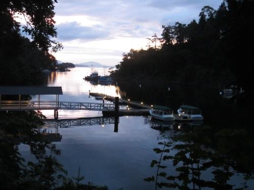 butchart garden dock