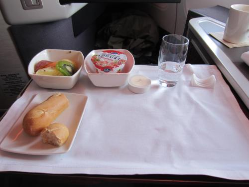 Cathay Pacific Breakfast