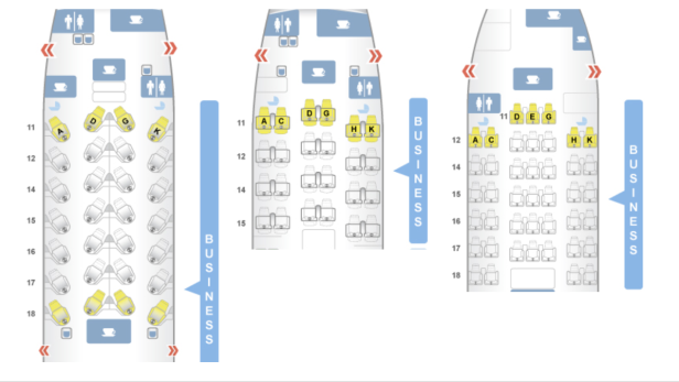 cathay pacific business class configuration