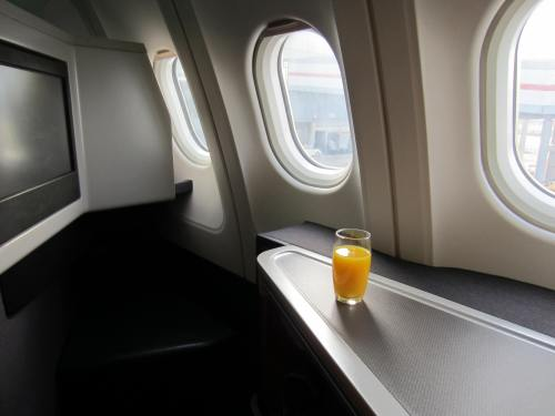 Cathay Pacific Business Class Feet