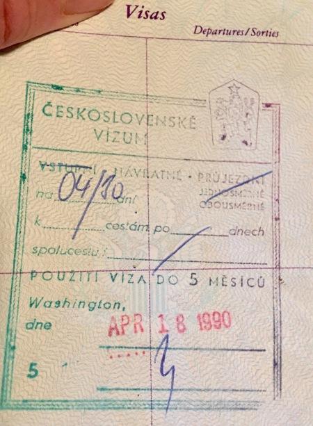 Czechoslovakian Visa